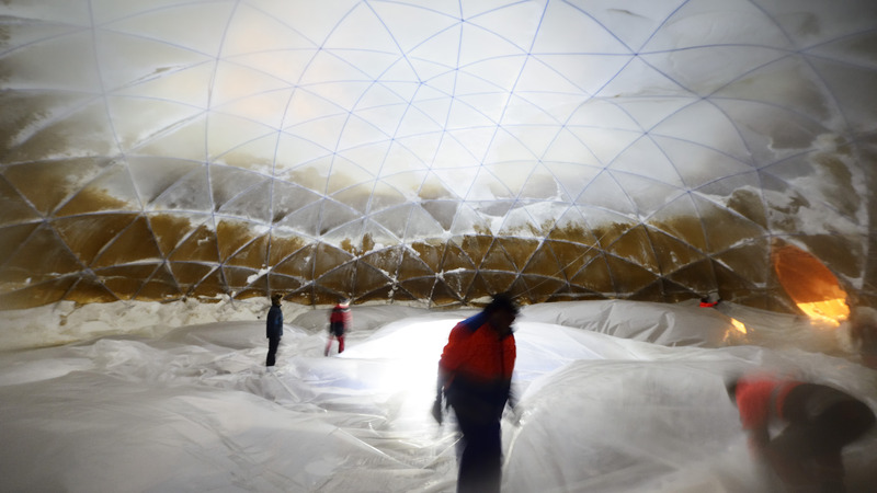 the worlds biggest icedome is finished.