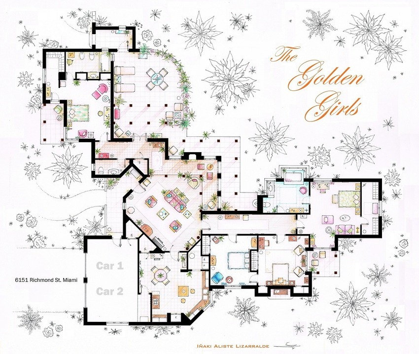 The Golden Girls House Floor Plan