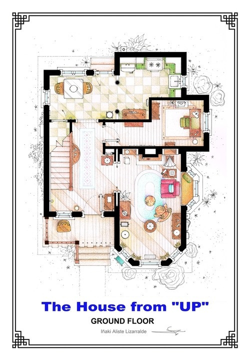 Inside House Drawing: Floor Plans Of Famous Fictional Houses And Apartments