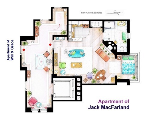 Floor Plans Of Famous Fictional Houses And Apartments