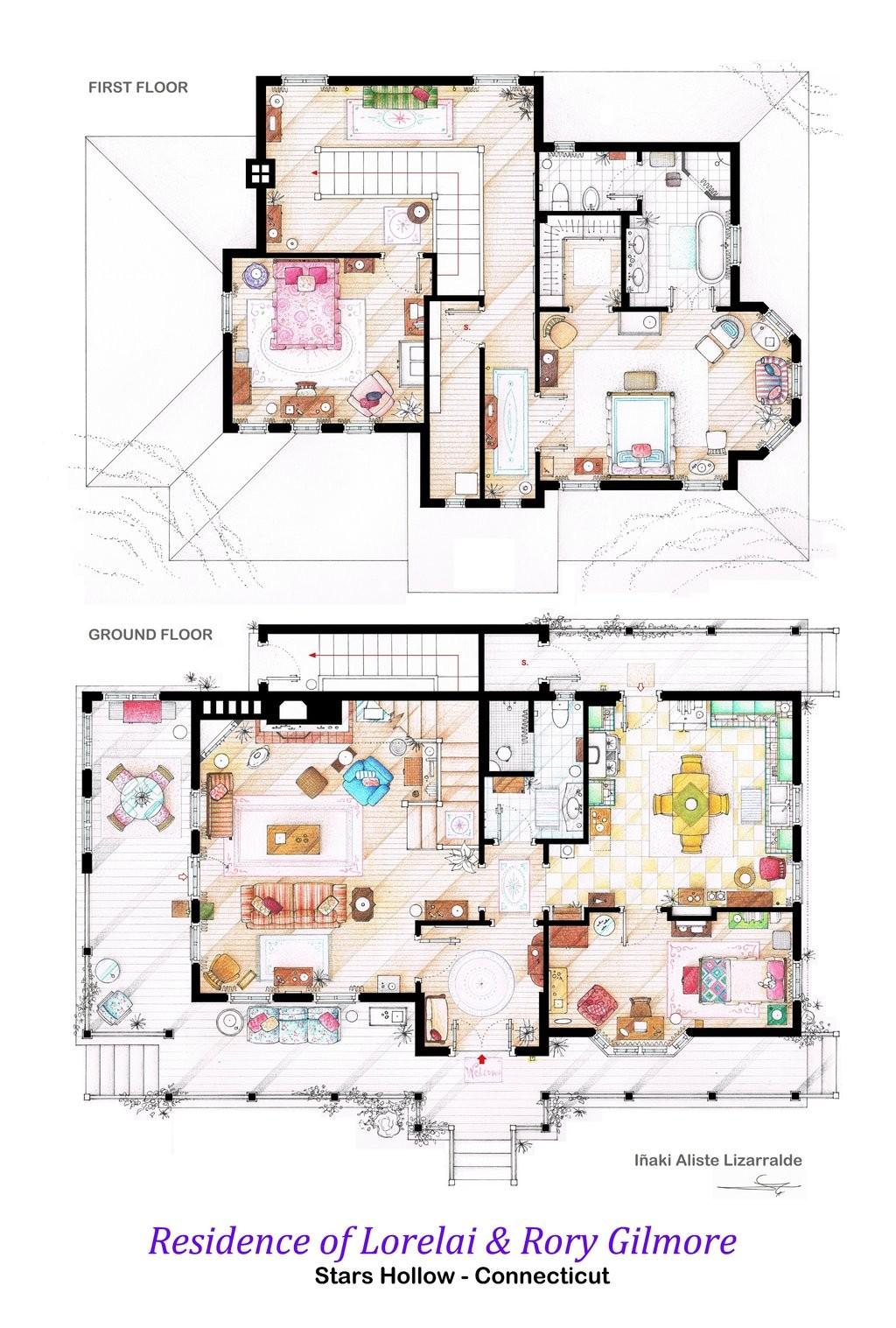 Gilmore Girls House Floor Plan
