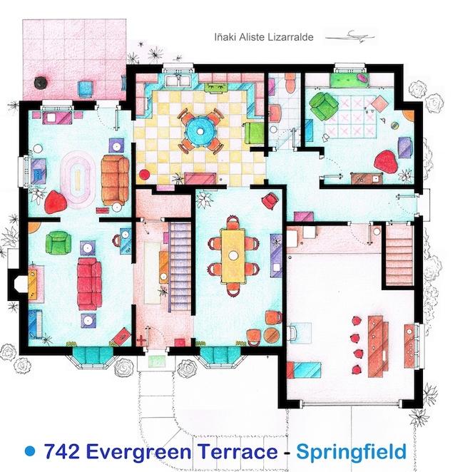 The Simpsons House Floor Plan