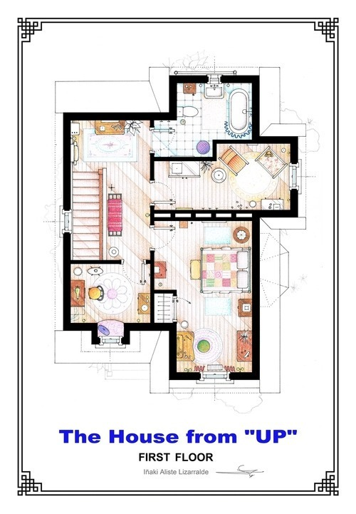 Up House - First Floor Floor Plan