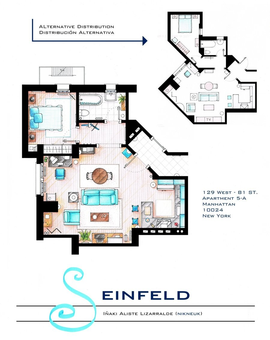 Seinfeld Apartment Floor Plan