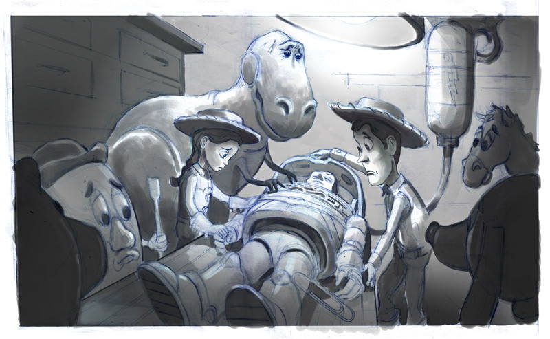 Toy Story 3 unused concept art