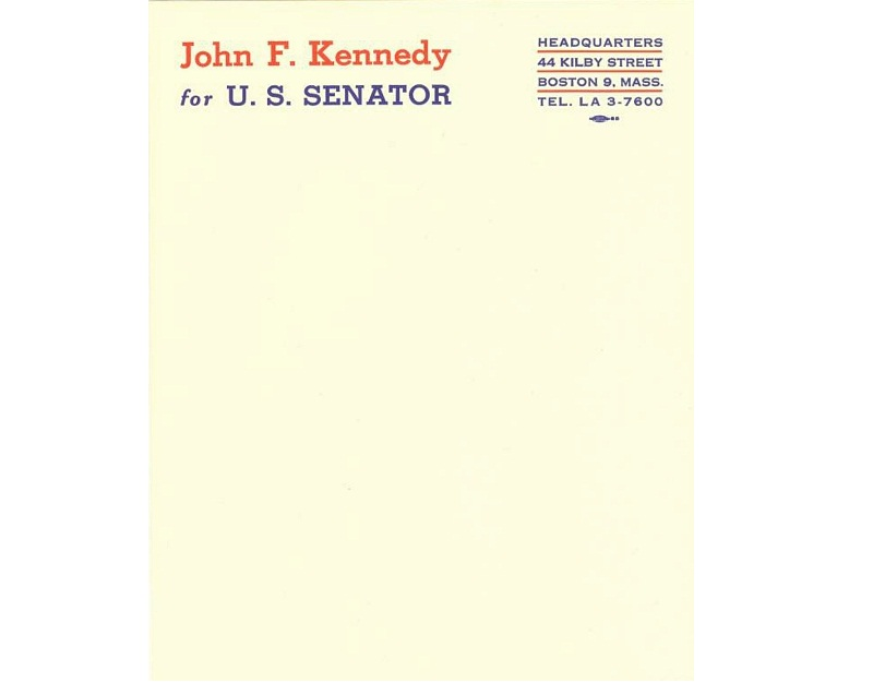 40 captivating personal letterheads of influential people personal letterheads jfk spiritdancerdesigns Image collections