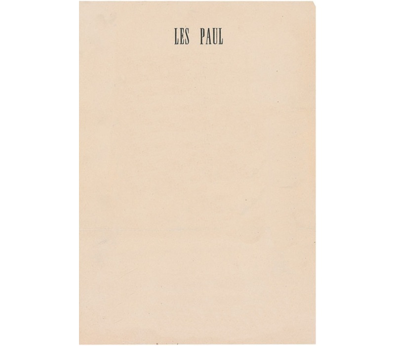 Personal Letterhead - Les Paul