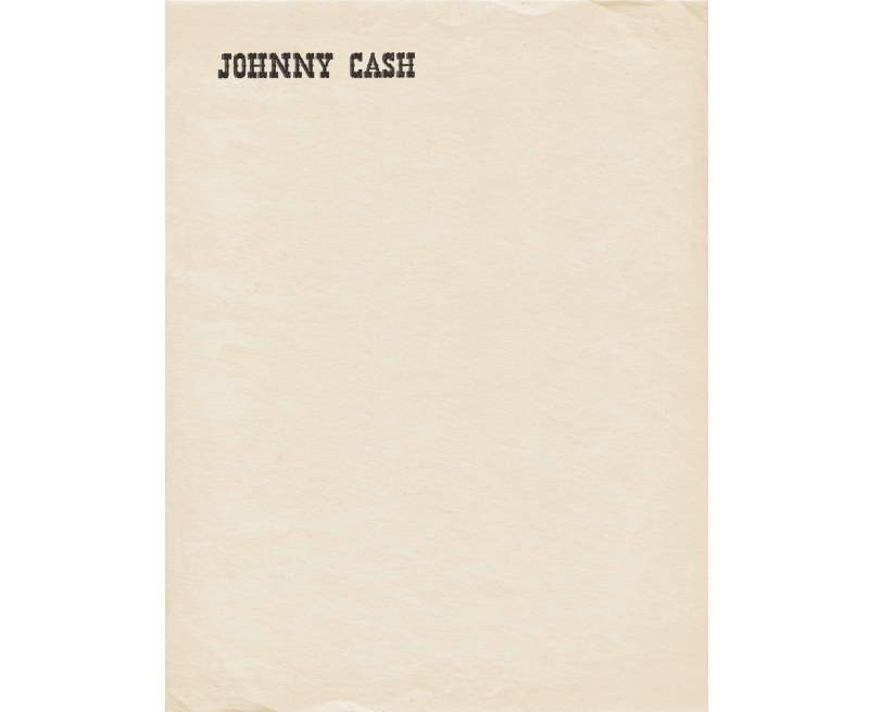 Johnny Cash custom letterheads