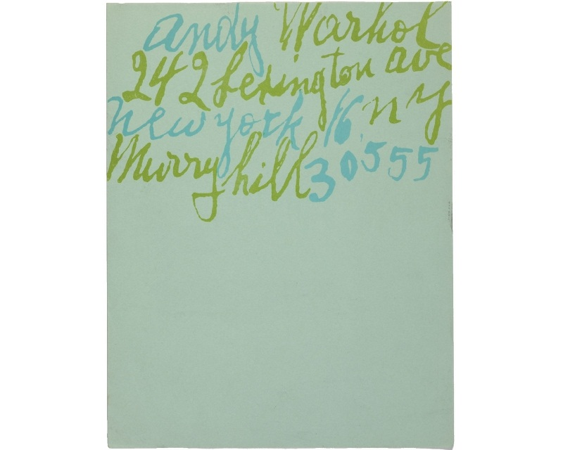 Personal Letterhead - Andy Warhol