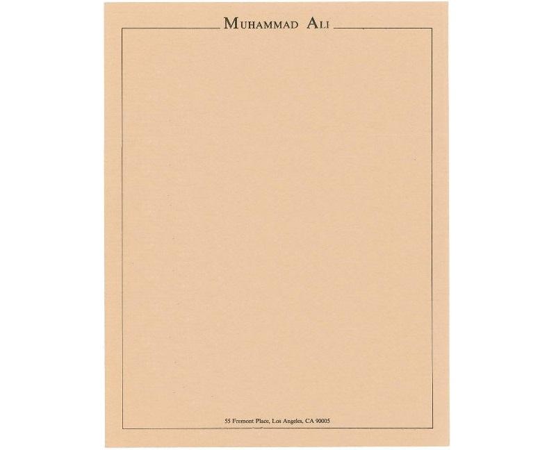 Personal Letterhead - Muhammad Ali