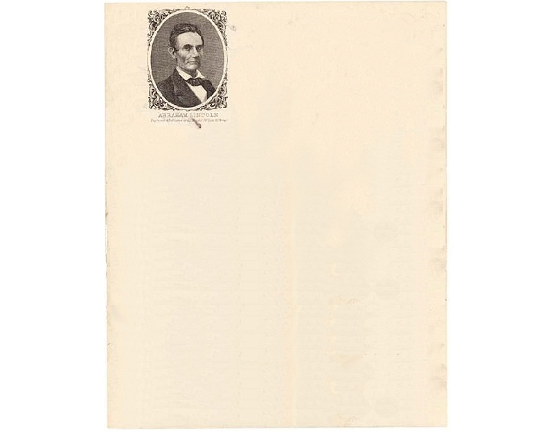 Personal Letterhead - Abraham Lincoln