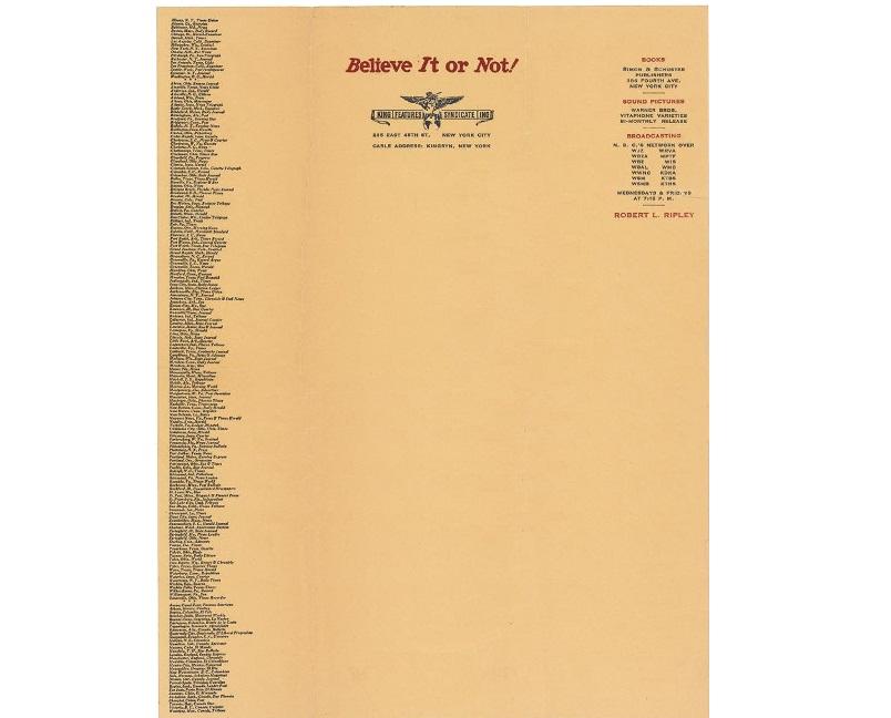Personal Letterhead - Robert Ripley