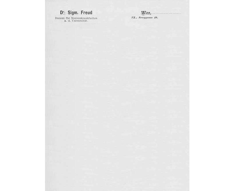 Sigmund Freud custom letterheads