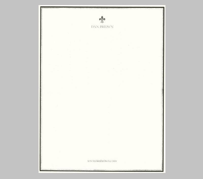 Dan Brown custom letterheads