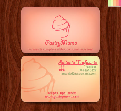 Bakery business cards 20 examples of pastry shop business cards however running a bakery reheart Gallery