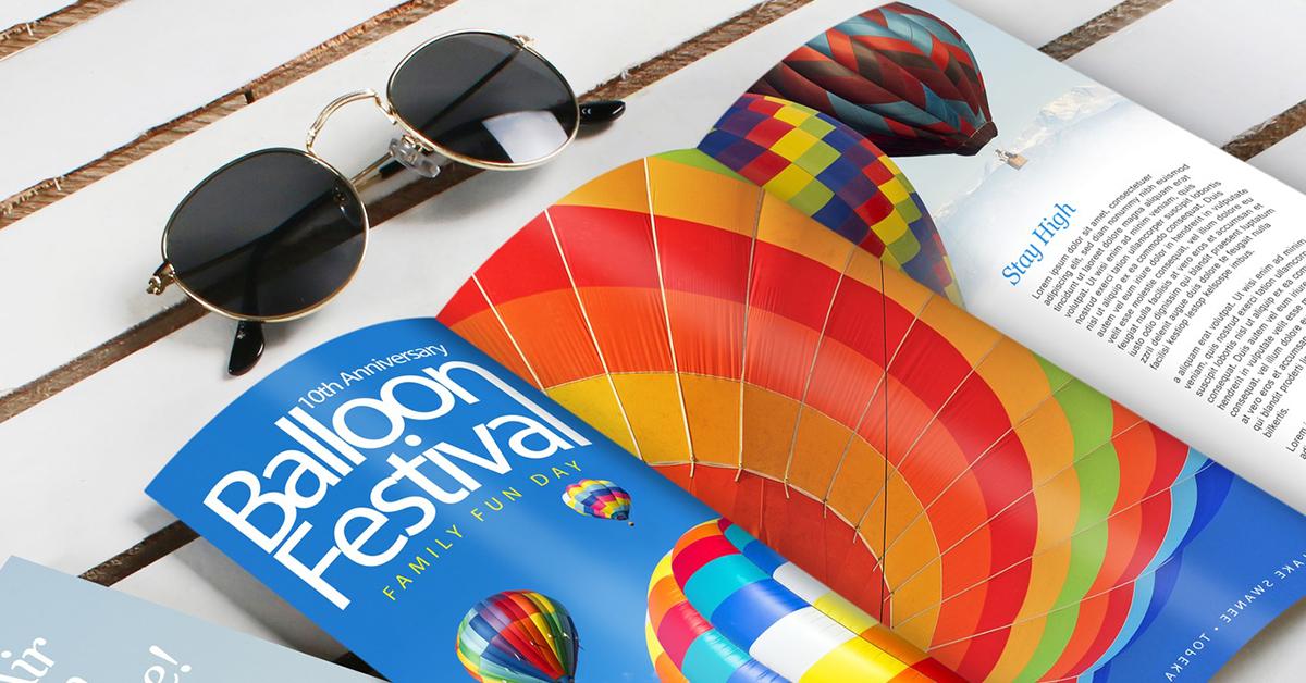 Balloon festival brochure
