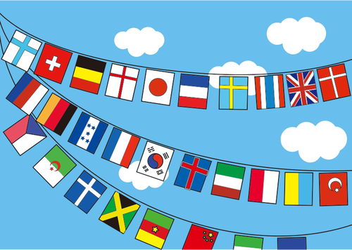 international flags scene