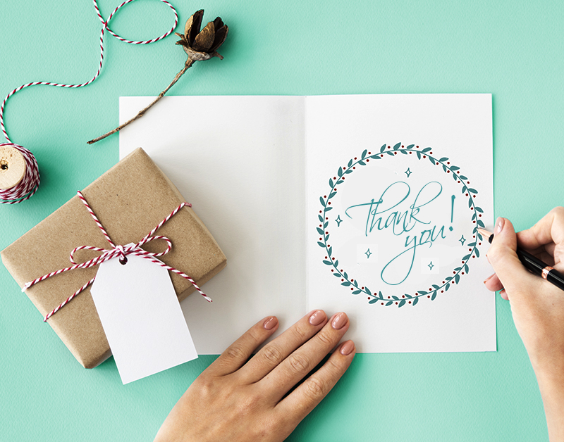 how to make thank you cards pop