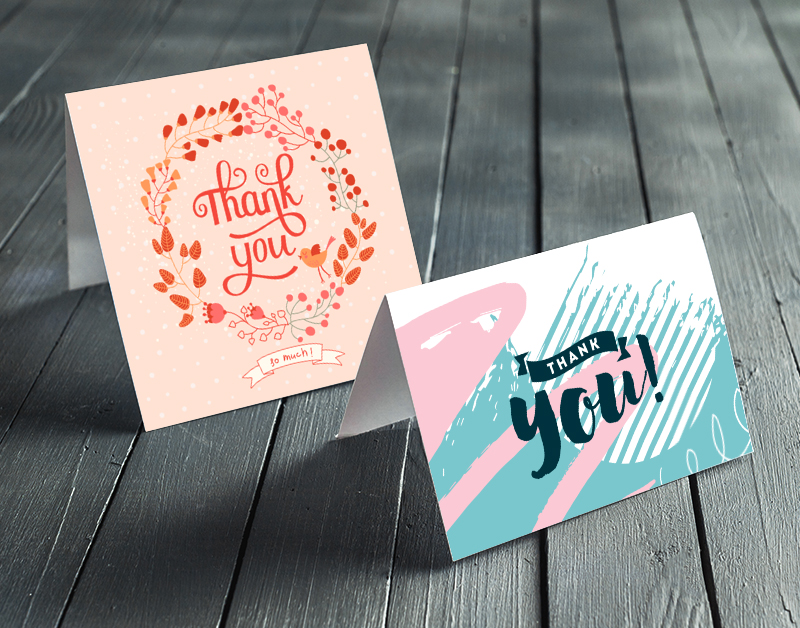 thank you cards two different