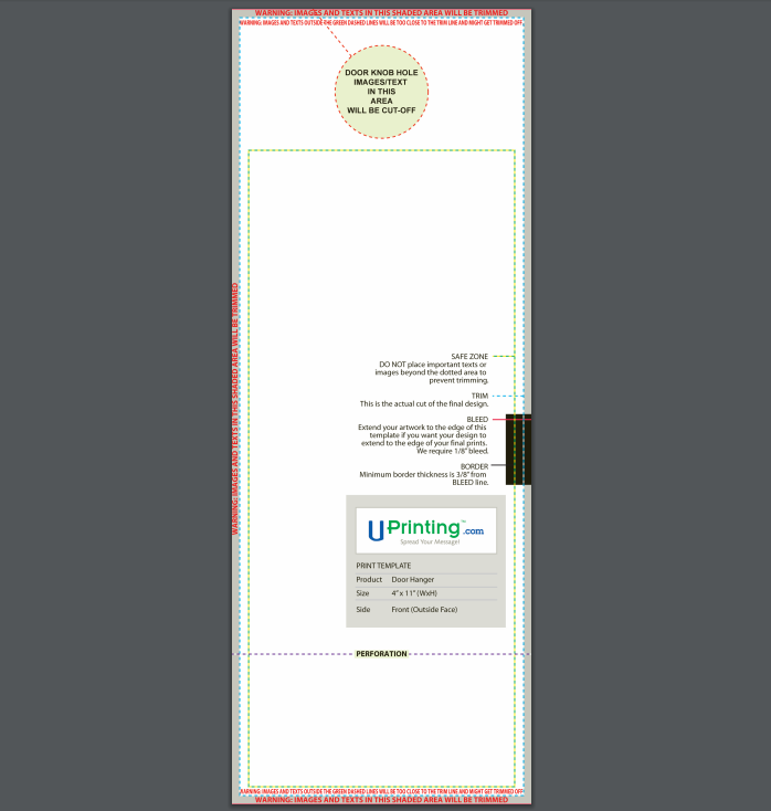 door hanger template example 3