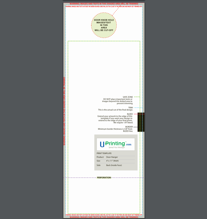 door hanger template example 2