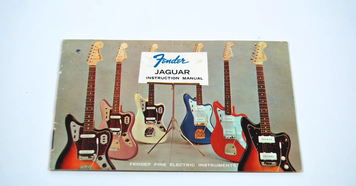 Hang tag manual for Fender Jaguar