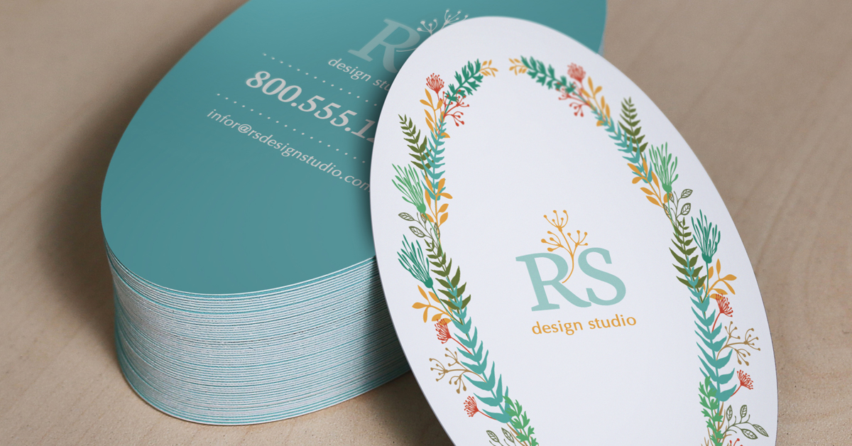 Oval shaped Business Cards