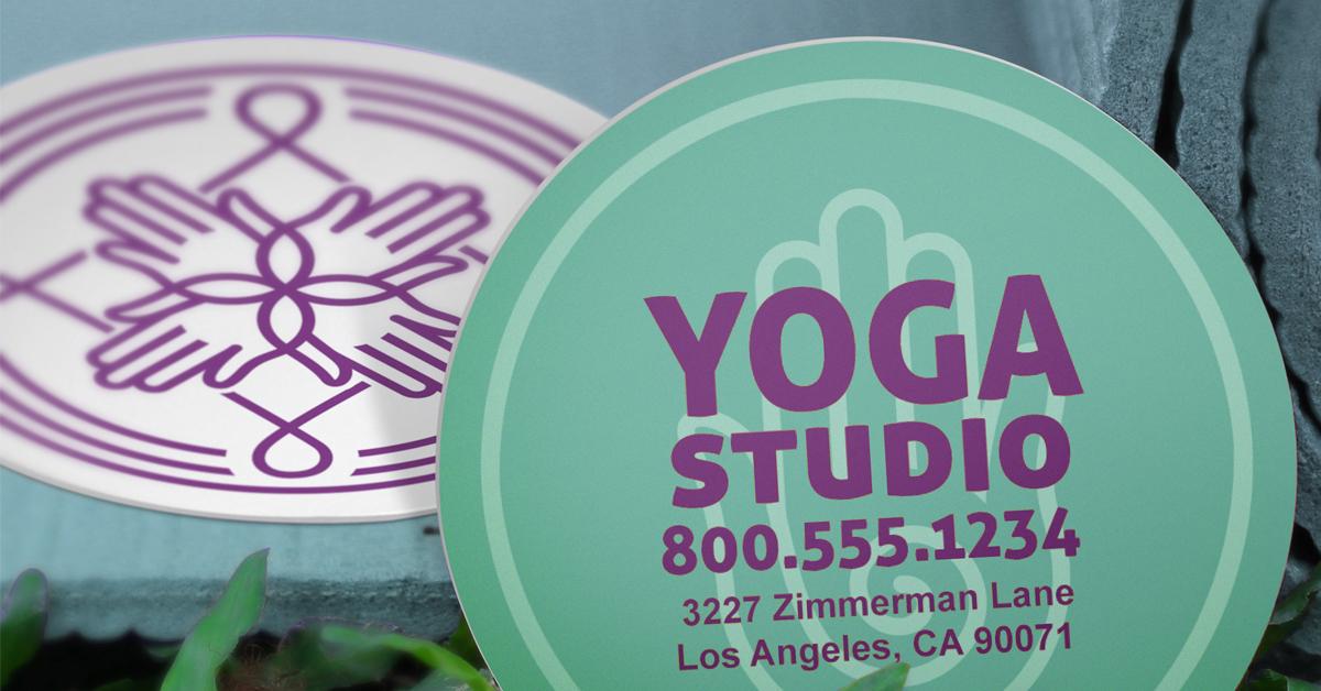 circle shape business cards