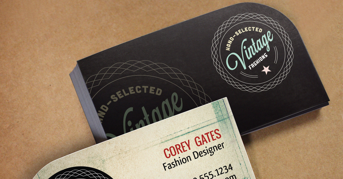 Which specialty shaped business card is right for you single rounded corner business cards reheart Images