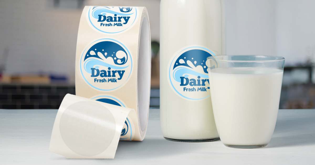 Dairy BOPP label
