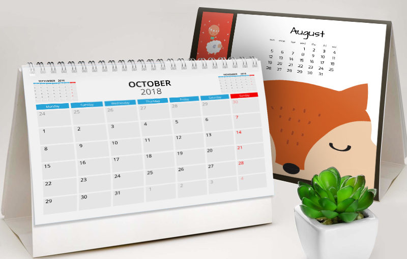 Popular Calendar Themes 2018