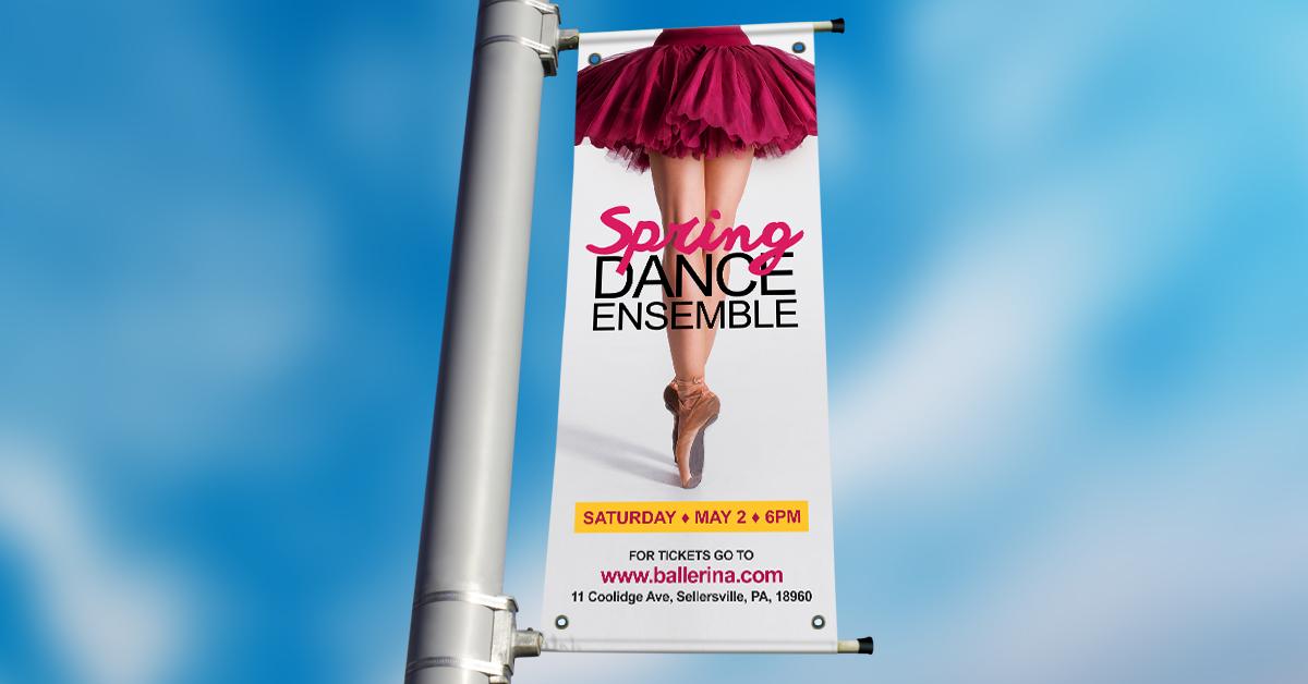 Ballerina Pole Banners