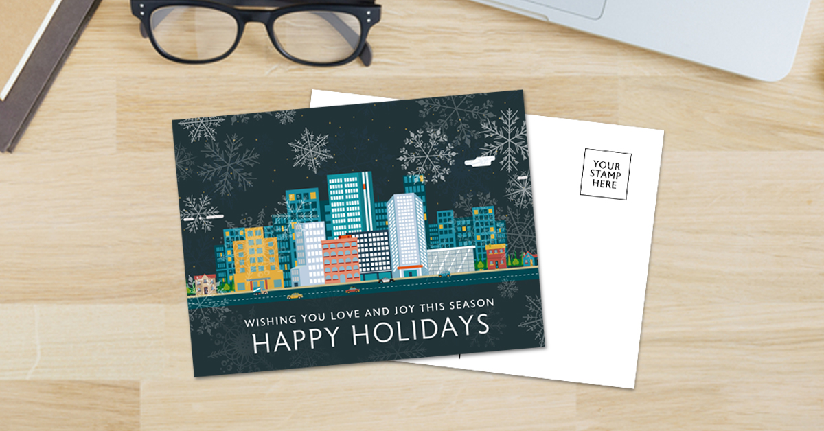 flat mailing holiday postcard