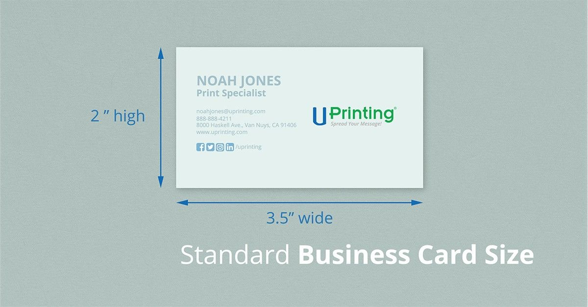 Standard Business Card Size
