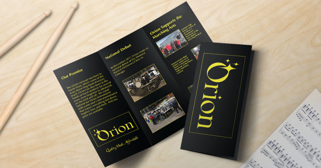 Trifold Brochure Printing Orion The Bandwagon Music Repair